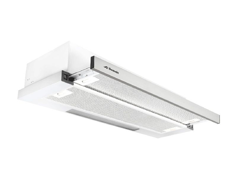 Domain 90cm Slimline 40mm Facia Slideout Rangehood