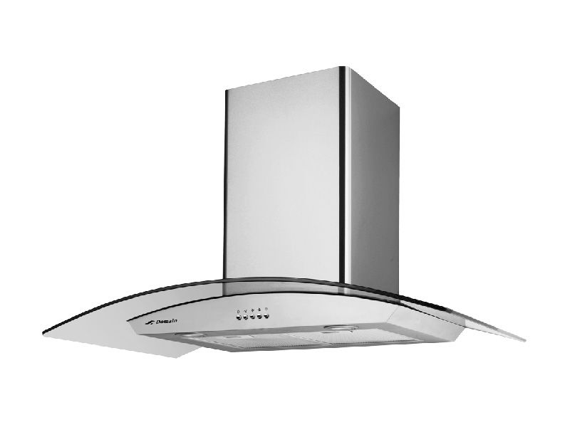 Domain 90cm Stainless Steel Curved Glass Canopy Rangehood